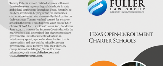 Fuller Law Group puts out Quick Guide Brochure on Charter School Immunities